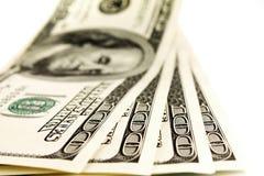 100 денег доллара Стоковые Изображения