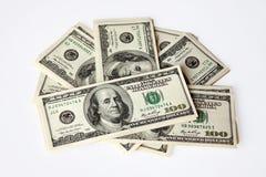 100 долларов вентилятора Стоковое Фото