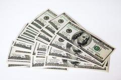 100 долларов вентилятора Стоковые Фото