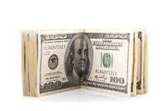 100 долларов пакета Стоковые Фото