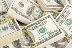 100 долларов пачки банка много примечаний мы Стоковые Изображения