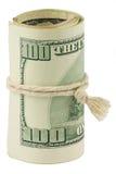 100 долларов переплетенной кредитки Стоковые Изображения
