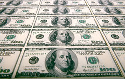 100 долларов сана 15 примечаний Стоковое фото RF