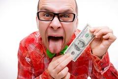 100 долларов удачливейшего человека Стоковые Изображения