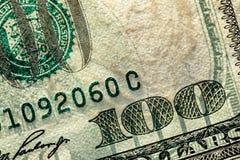 100 долларов Стоковая Фотография