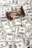 100 доллар и hourglass Стоковые Фотографии RF
