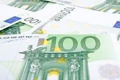 100 евро предпосылки Стоковое Изображение RF