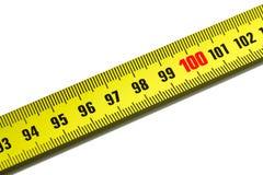 100 измеряя одну ленту Стоковая Фотография
