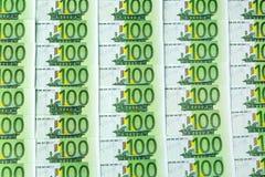 100 кредиток евро Стоковое фото RF
