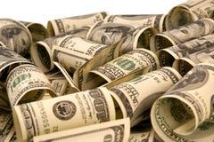 100 куч дег счетов доллара Стоковое Изображение RF
