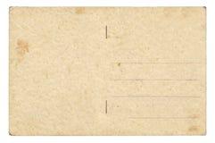 100 лет старой открытки, неписаной Стоковая Фотография RF