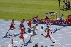 100 метров атлетики Стоковые Фотографии RF