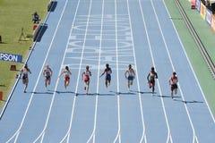 100 метров атлетики Стоковое Изображение RF