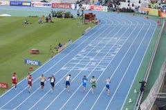 100 метров бежать Стоковая Фотография