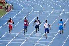 100 метров людей Стоковая Фотография