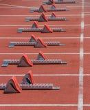 100 метров старта Стоковые Изображения RF