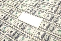 100 отсытствий доллара счета Стоковая Фотография