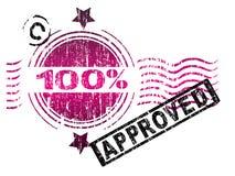 100 одобренных штемпелей Стоковые Изображения RF