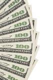 100 предпосылок доллара Стоковые Изображения