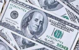 100 предпосылок счетов доллара Стоковая Фотография RF
