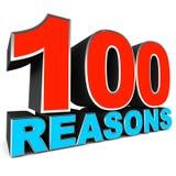 100 причин Иллюстрация штока