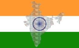 100 рупий карты Индии Стоковые Изображения RF