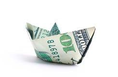 100 сложенных кредиток доллара Стоковые Изображения RF