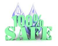 100%安全水 免版税图库摄影