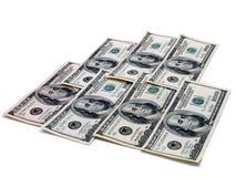 $100.00 Bills. A mat of $100.00 bills stock photography