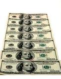 $100.00 Bills. A mat of $100.00 bills stock photos