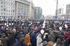 100.000 ensamblan la reunión de la protesta de la avenida de Moscú Sakharov Fotos de archivo libres de regalías