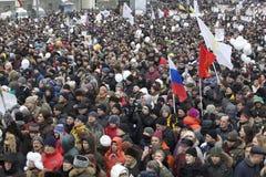 100.000 ensamblan la reunión de la protesta de la avenida de Moscú Sakharov Foto de archivo libre de regalías