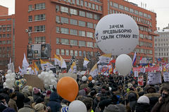 100,000 join Moscow Sakharov avenue protest rally Stock Photos