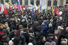 100,000 join Moscow Sakharov avenue protest rally Royalty Free Stock Images