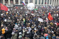 100,000 join Moscow Sakharov avenue protest rally. 100 thousands in Moscow protest Putin, election results. It's the biggest protest in Russia  for the last 20 Royalty Free Stock Photos