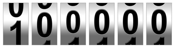 100,000 Mile Odometer. Warning illustration Stock Image