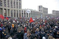 100.000 sluiten zich aan bij de verzameling van het de wegprotest van Moskou Sakharov Royalty-vrije Stock Afbeelding