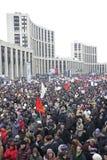 100.000 sluiten zich aan bij de verzameling van het de wegprotest van Moskou Sakharov Royalty-vrije Stock Foto