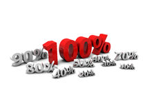 100%. Sale percent's from 10 to 100 Stock Illustration