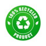 100个产品被回收的向量 免版税图库摄影