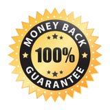 100回到保证标签货币向量 免版税库存照片
