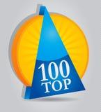 100个证书企业顶层 库存照片