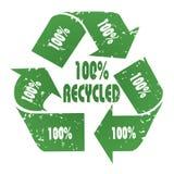100 που ανακυκλώνονται Στοκ εικόνες με δικαίωμα ελεύθερης χρήσης