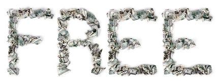自由的起皱的100$票据 免版税图库摄影