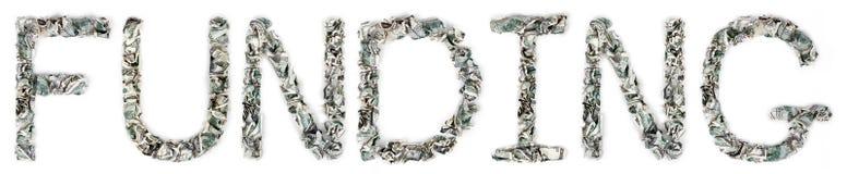 资助-起皱的100$票据 免版税库存图片