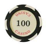 100 δολάρια τσιπ χαρτοπαικτικών λεσχών Στοκ Φωτογραφία