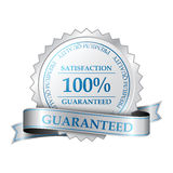 保险费100%满意保证标签 库存照片