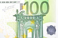 Одно евро банкноты 100 Стоковое фото RF