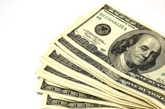 100 долларов счета близких вверх Стоковая Фотография