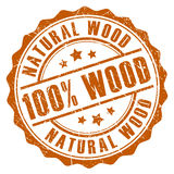 100自然木邮票 库存照片